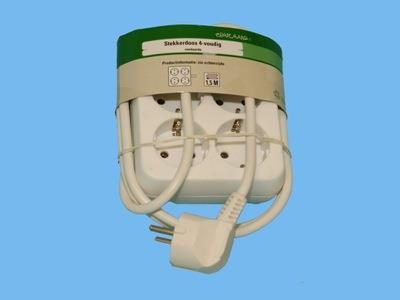 table socket 4v r/a m/cable  white