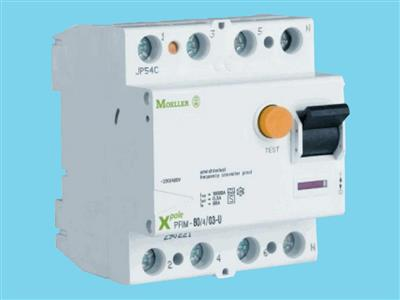 Ground-fault circuit interrupter 4p-63a 30ma schup