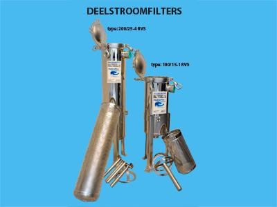 Partial flow filter 100/15-1 stainless steel