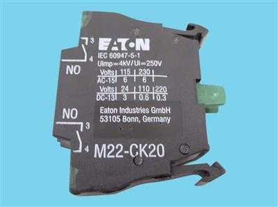 E&M contact element M22-K10, front 2 x NO