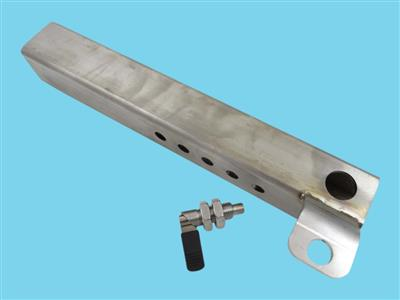 stainless steel box profile for swivel caster m24, including