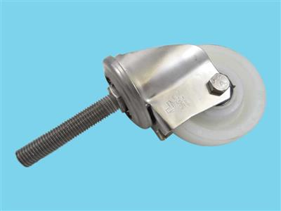swivel caster 100x37 including threaded end m20