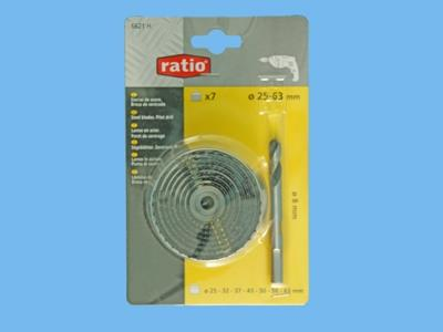 holesaws 7 pcs ratio