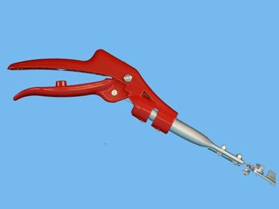 long reach pruner 35cm, angled, red