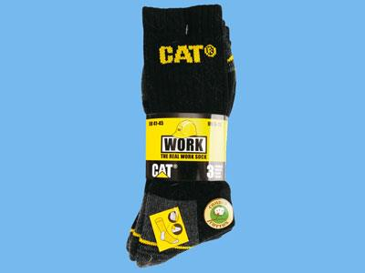 cat socks backl/grey 41-45 3 pr