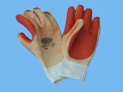 gloves vulcanized - orange/white  cat.1