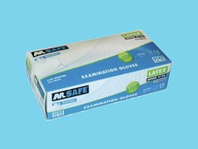 Disposable gloves M-Safe 4160 latex S