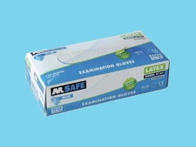 Disposable gloves M-Safe 4161 latex blue m
