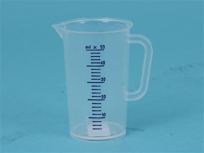 pp 50ml plastic measuring cup