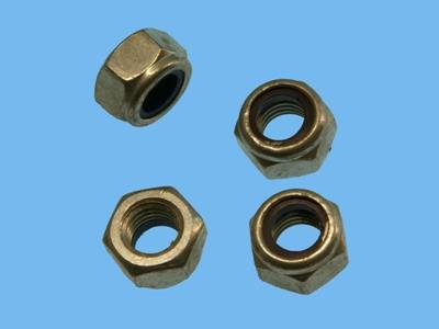elect galvanised lock nuts m4