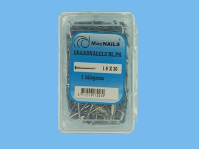 Wire nails bl 1.8x30gk   1kg
