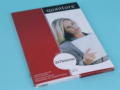 Lamination Sleeve Quantore A4 216x303mm 75mic;100