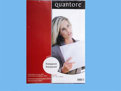 Sheet Quantcre A4 0.30mm transparent 100 pieces