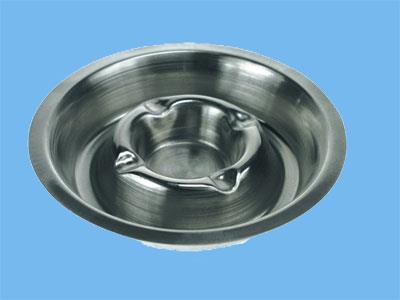 ashtray metal chrome plated 160 mm