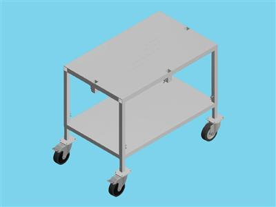 weight alum trolley 90x55 + wheels