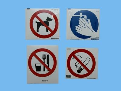 smoking / food / animal / hands are prohibited 100mm