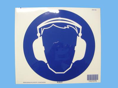 sticker ear protection 200 mm