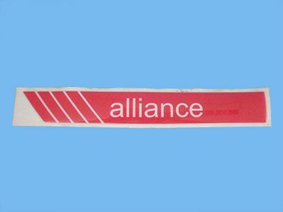 alliance   self adhesive sticker