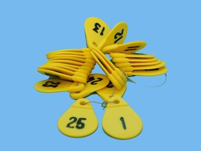 bay numbers 1 - 25