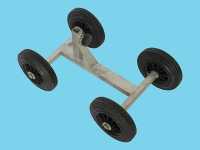 4-wheel frame with solid rubber wheels