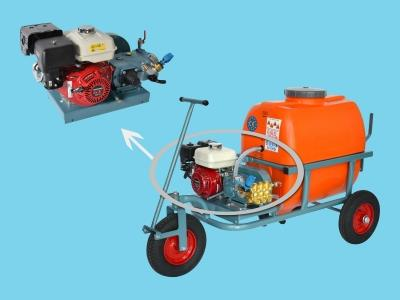 3-wheel spraytrolley 200ltr 50ltr/40bar-gasoline