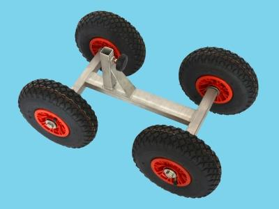 4-wheel frame with pneumatic tyres
