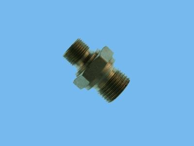 "hydraulic double nipple 3 / 8 ""x3 / 4"