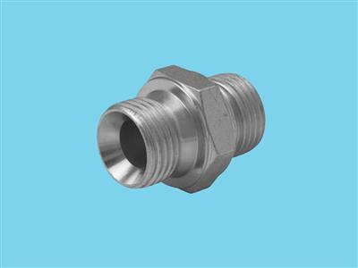 Hydraulic double nipple 1/2""