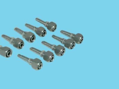 pipe rail trolley hydraulic pilaar swivel nut 2d dkol
