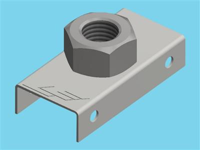 Mounting plate put m30 + nut