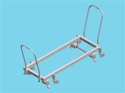 piperail trolley 125x37cm with 2 handles