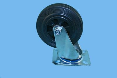 Swivel castor 125mm 4 hole rubber