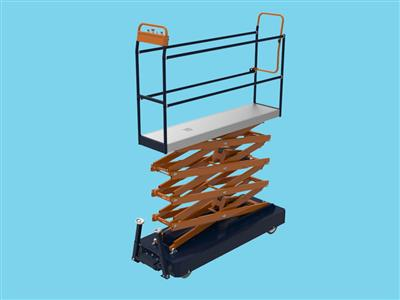 pipe rail trolley benomic, fourfold hydraulic scissor