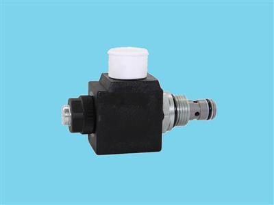 emergency valve 2/2 nc+coil 18w complete