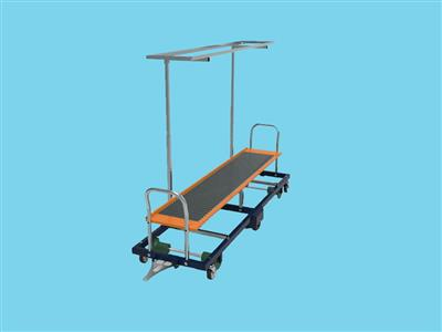 Rolling harvest rack for cluster tomatoes - 241cm