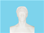 Allwear cap with flap and hair net PP white 10x100 pcs