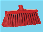 Broom hard Vikan red