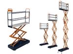Pipe rail trolley BENOMIC, triple hydraulic scissor, hydraul